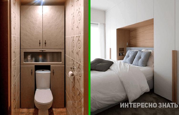 10 крутых идей, как уместить шкаф в маленькой квартире