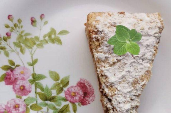 Тёртый пирог из песочного теста с начинкой
