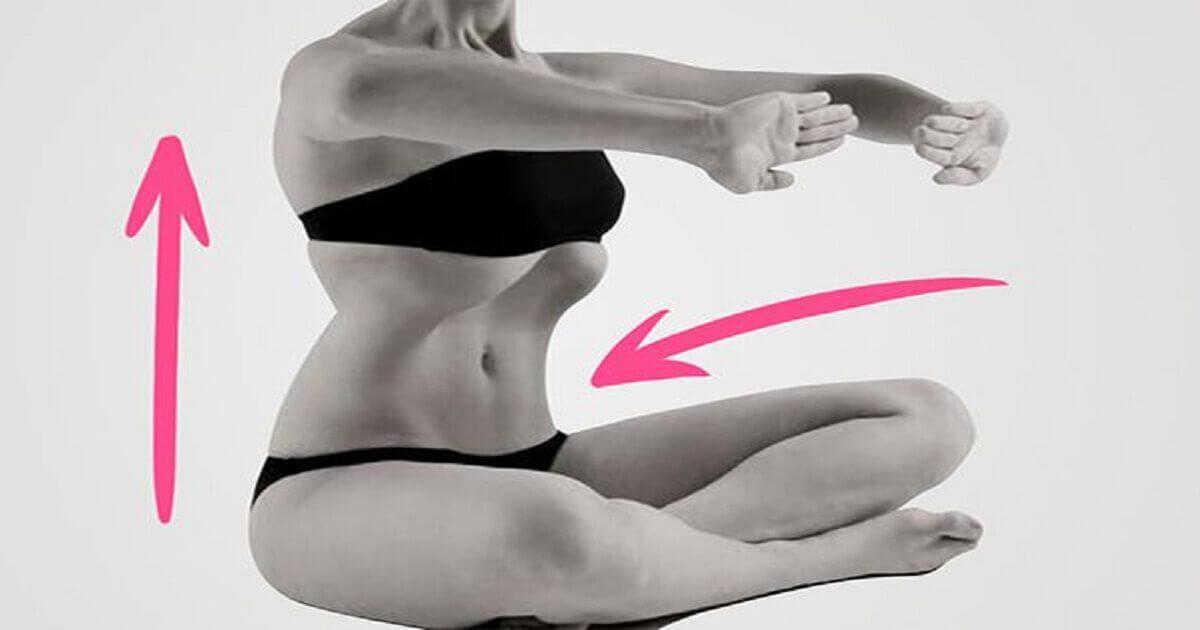 Как подтянуть живот с помощью одного-единственного упражнения